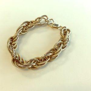 Etienne Aigner Gold Link Bracelet, EUC